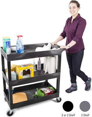 3 Shelf Utility Cart by Stand Steady