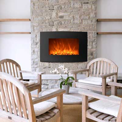 5. FDW Wall Mounted and Standing Fireplace