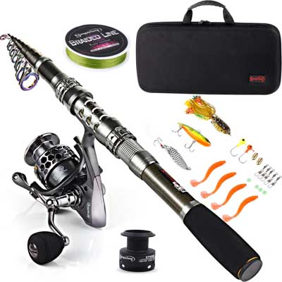 5. Fishing Rod Combos with Telescopic Fishing Pole by Sougayilang
