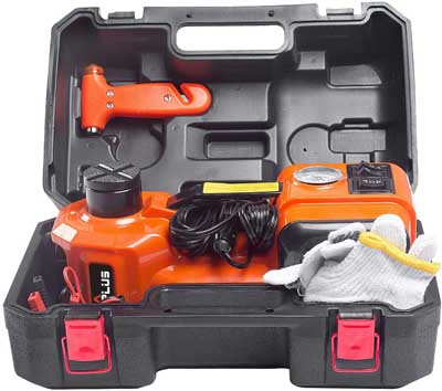 6. Electric Hydraulic Floor Jack with inflator Pump by M PLUS
