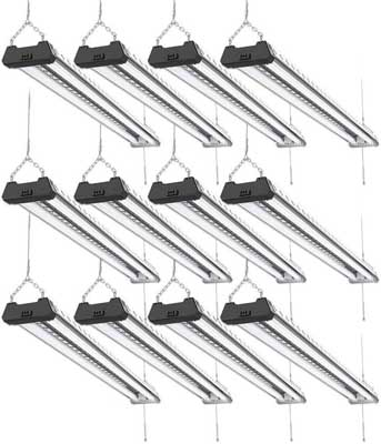 6. 12 Pack Industrial LED Shop Light by Sunco Lighting
