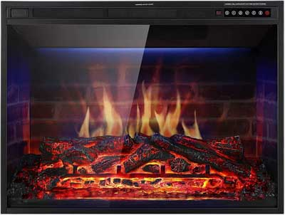 "9. XBeauty ""X"" Series Electric Fireplace Insert"