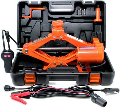 5. 3 Ton Electric Automotive Scissor Tire Jack Kit by VViViD