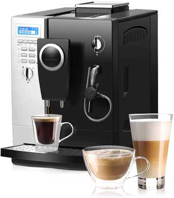8. Automatic Espresso Machine with Stainless Steel Water Tank by COSTWAY