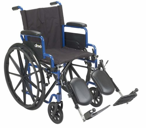 Drive Medical Blue Streak Wheelchair with Flip Back Desk Arms