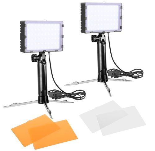 Emart 60 LED Continuous Portable Photography Lighting Kit for Table Top Photo Video Studio Light Lamp