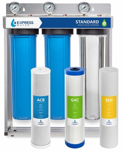 Express Water Whole House Water Filter, 3 Stage Home Water Filtration System, Sediment