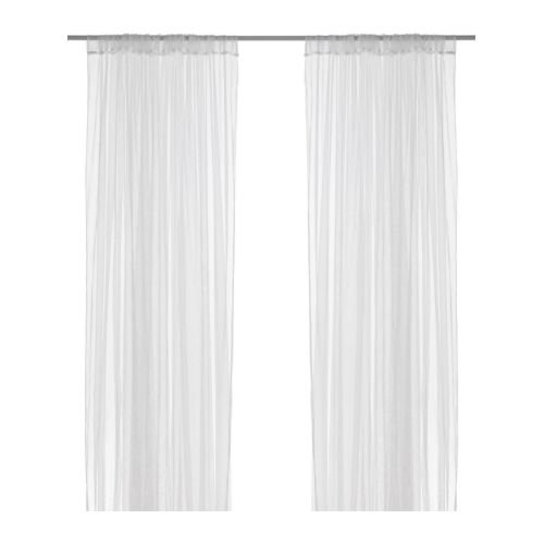 Ikea Mesh Lace Curtains, 110 Inch By 98 Inch