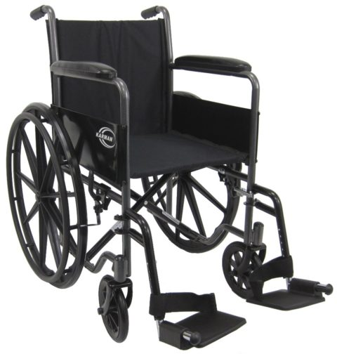 Karman Lightweight wheelchair with removable footrest