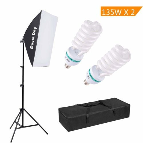 "MOUNTDOG 1350W Photography Continuous Softbox Lighting Kit 20""X28"" Professional Photo Studio Equipment"