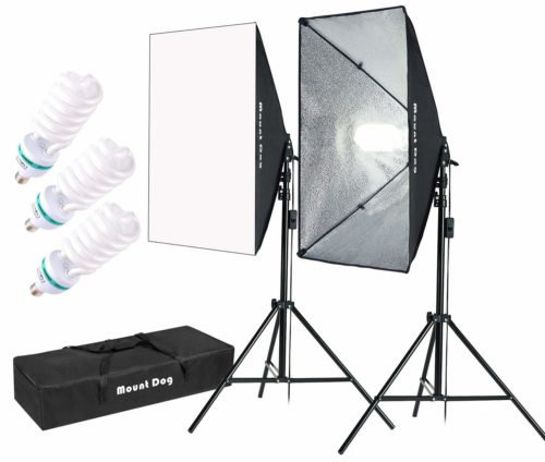 "MOUNTDOG 1350W Softbox Lighting Kit Photography Studio Light 20""X28"""