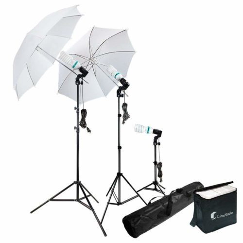 Photography Photo Portrait Studio 600W Day Light Umbrella Continuous Lighting Kit by LimoStudio-Studio Light Kits For Photographer