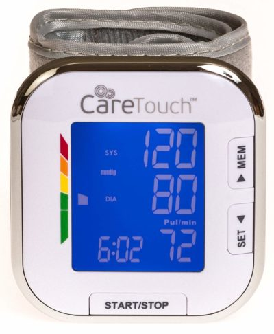 Roll over image to zoom in Care Touch Fully Automatic Wrist Blood Pressure Cuff Monitor