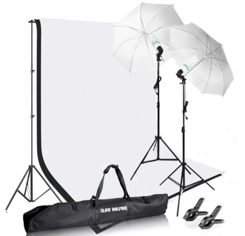 Slow Dolphin Photography Photo Video Studio Background Stand Support Kit