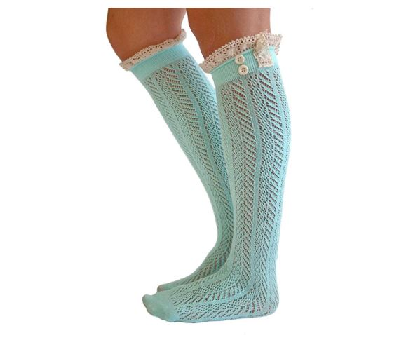 1.The Original Button Boot Socks with Lace Trim Boutique Socks by Modern Boho