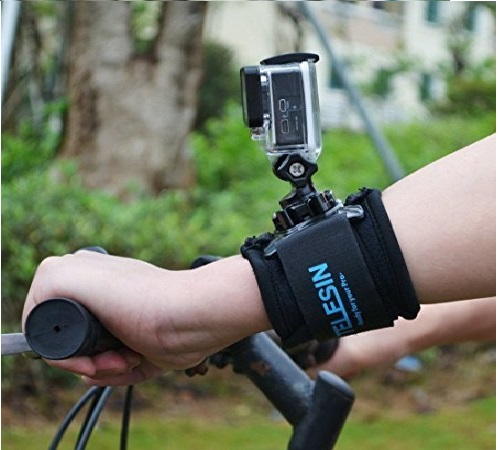 11.TELESIN 360 Degree Rotary Wrist Strap Arm Mount Band Holder Cycling Mount with J Hook Rotation Mount for GoPro Hero 7 Black