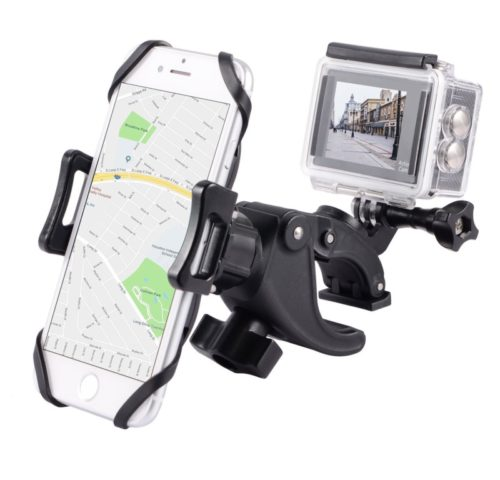 11.YELIN Bike Phone Mount Motorcycle Phone Holder Bike Camera Mount 2 in 1 Bicycle Holder Handlebar Clamp Compatible