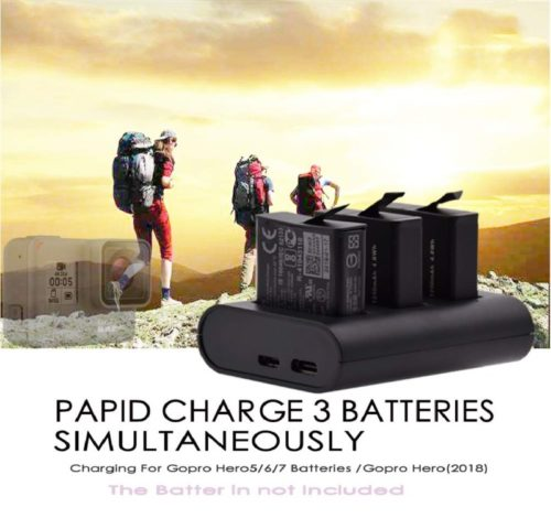 12.Charging Station for Gopro Batteries,GoPro Rechargeable Battery Charger, 3-Channel Charger GoPro Hero8