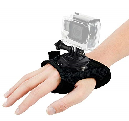 13.ParaPace Wrist Strap Mount for GoPro Hero 8 7 6 5s 5 4s 4 3+,360 Degree Panoramic Swiveling Hand Glove Mount for YI Discovery SJCAM AKASO