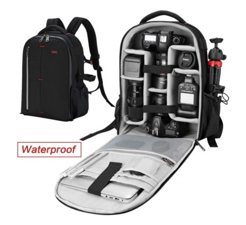 2.ESDDI Camera Bag Backpack Professional for DSLRSLR Mirrorless Camera Waterproof, Camera Case Compatible for Sony Canon Nikon
