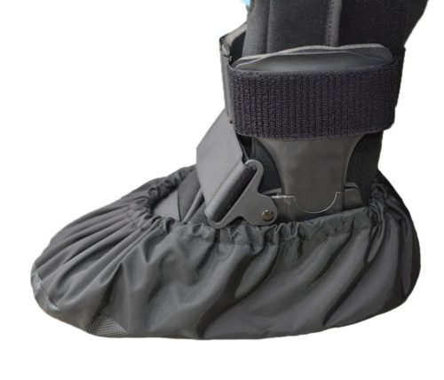 2.MyShoeCovers 1 Fracture Walking Boot Cover - Black, Large