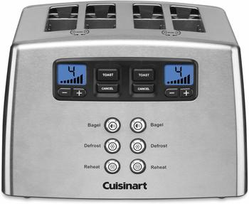 3. Cuisinart CPT-440 Touch to Toast Leverless 4-Slice Toaster