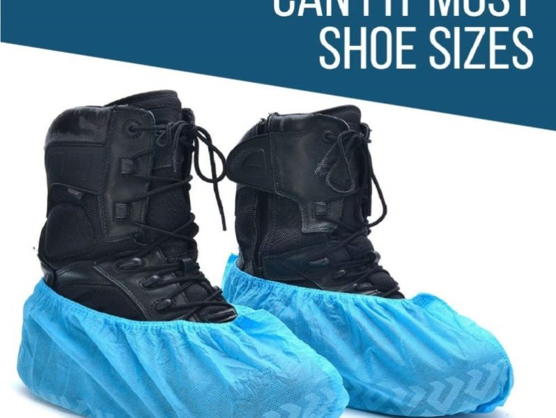 3.Strongman Tools 120 Pack (60 Pairs) Extra Thick Disposable Shoe & Boot Covers Durable & Water Resistant