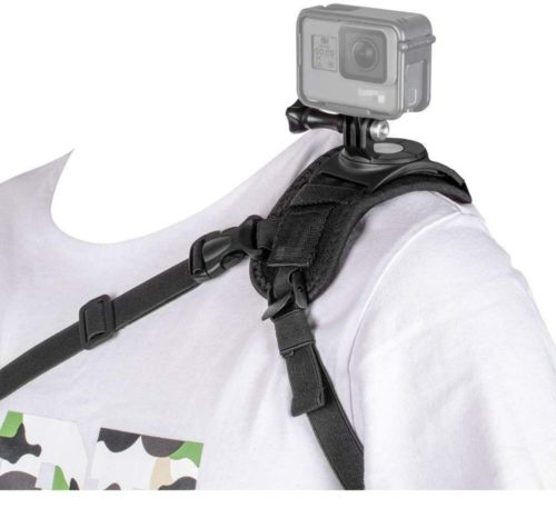 3.Taisioner Shoulder Mount Strap Clamp for GoPro or Other Action Camera (A Style for Male)