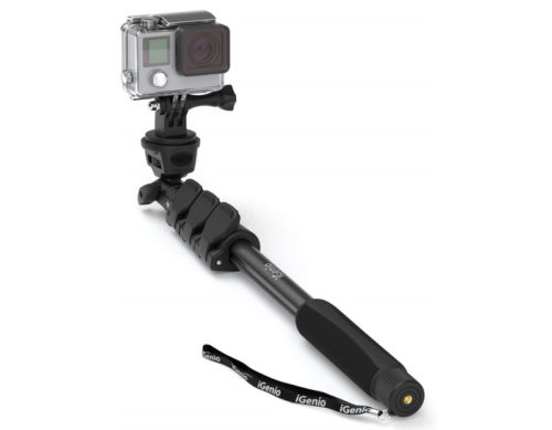 4. Professional 10-in-1 Selfie Stick Monopod for GoPro Hero 7 6 5 4 3, Action Cameras, Digital Compacts