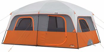 4. CORE 10 Person Straight Wall Cabin Tent