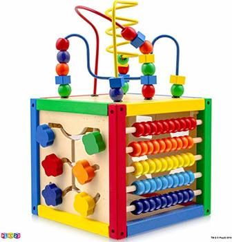 #4. Play22 Activity Cube with Bead Maze - 5 in 1 Baby Activity Cube
