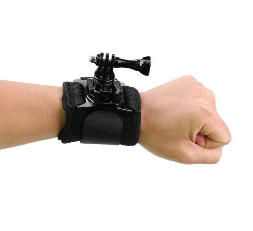 4.CISNO 360 Degree Rotatable Camera Accessories Wrist Strap Band Holder Cycling Mount for GoPro Hero 1 2 3