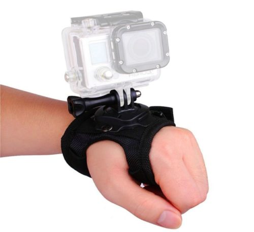 5.VVHOOY 360 Degree Glove Style Wrist Strap Mount with Screw Compatible with GoPro Hero 7 6 5 AKASO EK7000 Brave