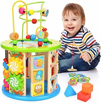 #6. Victostar Activity Cube Bead Maze Educational Toy