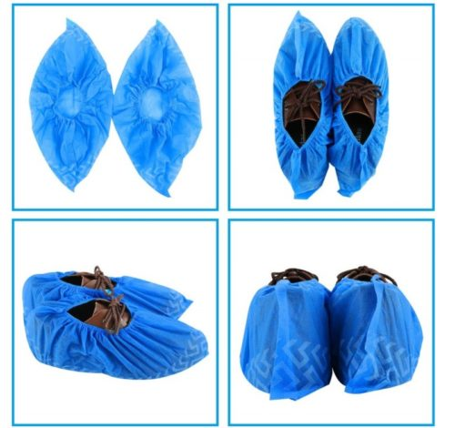 6.Disposable Boot & Shoe Covers 200 Pack (100 Pairs) Non-Slip, Durable, Indoor Protect Your Home, Floors and Shoes
