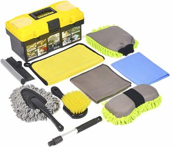 #8. Konpard Ultimate 9-Piece Car Cleaning Tools Kit