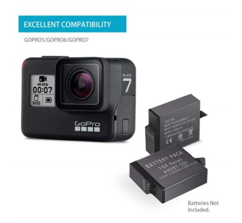 9.Dual Charger Station for GoPro Hero 5 Hero 2018 Hero 6 Hero 7 Rechargeable Battery with LCD Display - 2 Channel - USB Cable Included