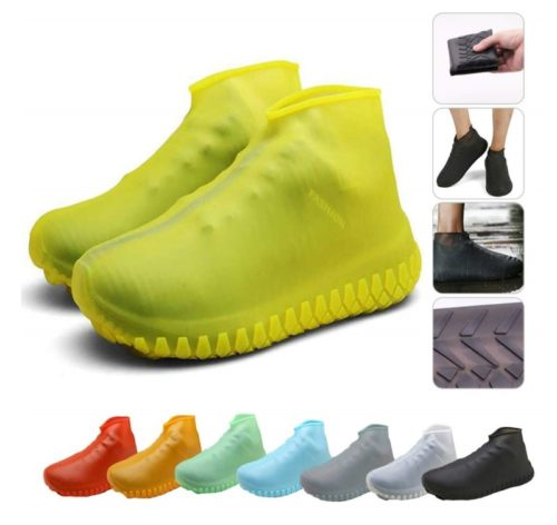 9.Nirohee Silicone Shoes Covers, Shoe Covers, Rain Boots Reusable Easy to Carry for Women, Men, Kids.