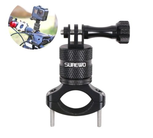 9.SUREWO Bike Handlebar Mount,360 Degrees Rotation Aluminum Bicycle Seatpost Mount Compatible with GoPro Hero 8