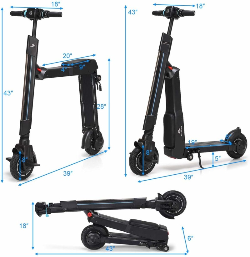 Foldable Kick Electric Scooter by Goplus
