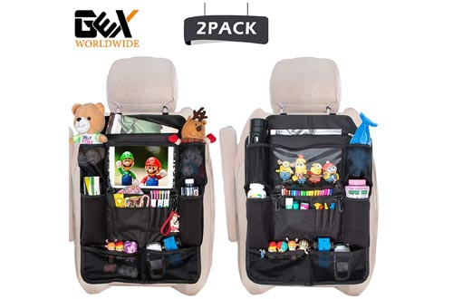 GEX Car Backseat Organizers Back Seat Non-Deformation Protectors Touch Screen Tablet Holder