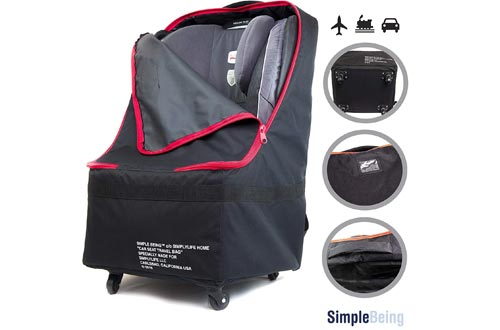 Simple Being Baby Car Seat Travel Bag, Gate Check, Infant Carriers Booster Cover Protector