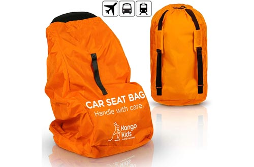 KangoKids Car Seat Travel Bag - Waterproof Carseat, Booster, Backpack Cover