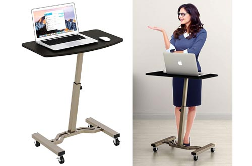 10. SHW Laptop Stand Rolling Cart by Le Crozz