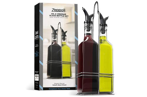 10. Zeppoli Oil and Vinegar Bottle Set