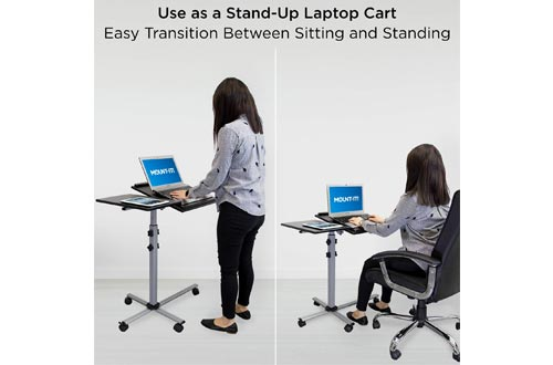 6. Mount-It! Rolling Laptop Tray Cart