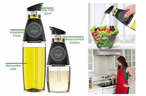 7. Belwares Olive Oil Dispenser Bottle Set