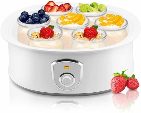 Automatic Yogurt Maker Machine 7 Glass Greek Jars