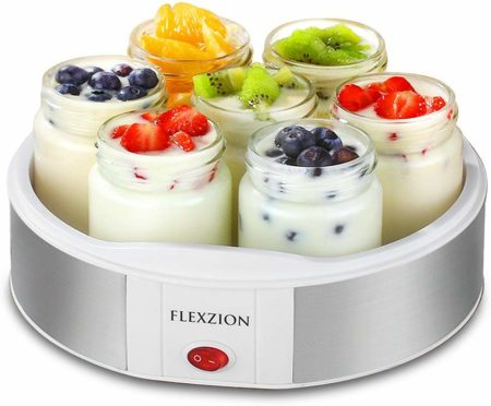 Flexzion Maker Machine with 7 Yogurt Containers