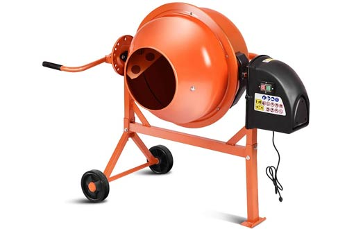 Goplus Electric Cement Concrete Mixer - Machine for Mixing Mortar, Stucco and Seeds
